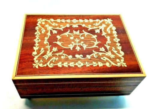 Beautiful Vintage Sankyo Wooden Jewelry / Music Box Combination-Made in Japan