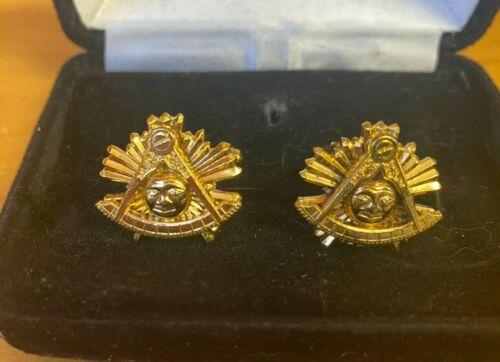 Masonic Freemason Past Master cufflinks and Tie pin