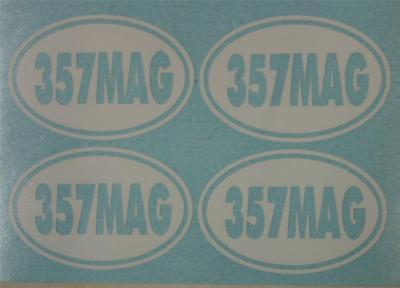 357 Mag Ammo Can Gun Decal Sticker - 4 Pack
