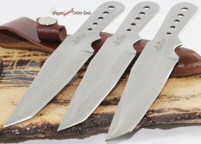 Gil Hibben Full Tang Tanto Ninja 3-PC Throwerz Throwing Knife Knives Set (Tanto Set)