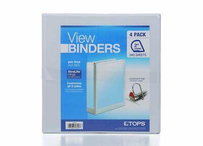View Binders 2 Locking 3 Ring Binders 4 Pack - White