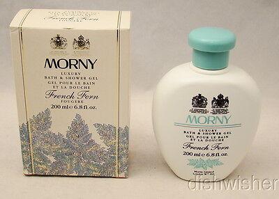 Morny England FRENCH FERN Luxury Bath & Shower Gel 200 ml, 6.8 oz. NEW NIB Vintg ()
