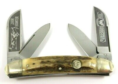 Hen & Rooster Congress Knife Coon Hunter STAG 4397-QN