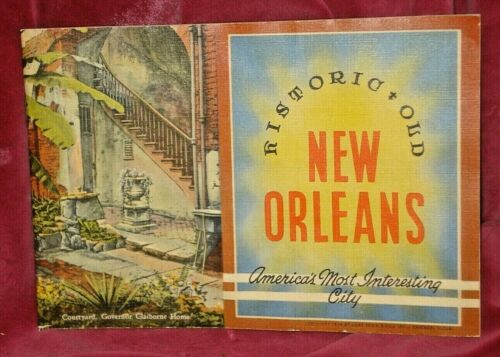 HISTORIC OLD NEW ORLEANS POSTCARD BOOKLET