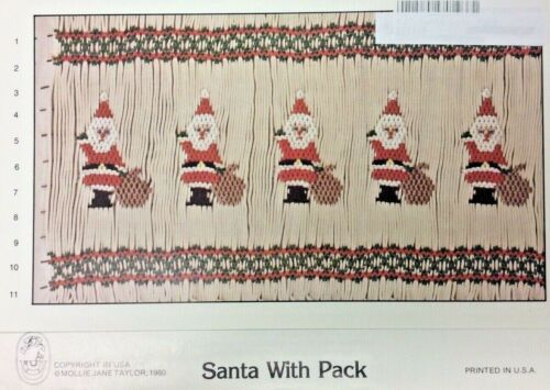 MOLLIE JANE TAYLOR SMOCKING PLATE - SANTA WITH PACK