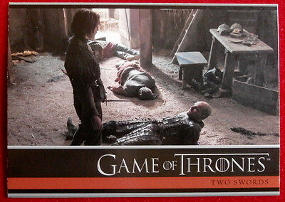 GAME OF THRONES - Season 4 - Card #03- TWO SWORDS C - Rittenhouse 2015