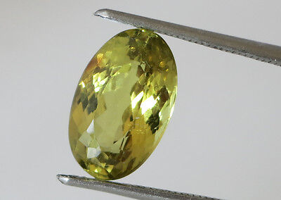 2.80ct. NATURAL UNTREATED CHRYSOBERYL GREENISH-YELLOW EXCELLENT COLOR SATUR