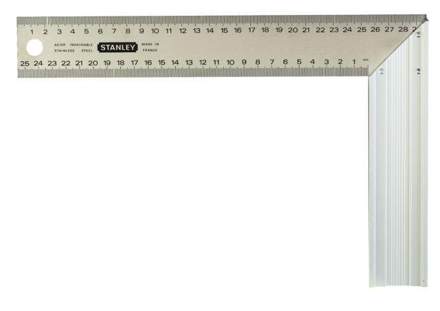 STANLEY Schreinerwinkel 200 x 400 mm gerippter Aluminiumgriff Edelstahlblatt