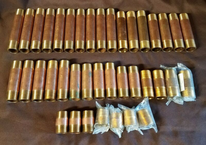 """39 Brass 1"""" Nipples From 1-1/2"""" To 6"""" In Length"""