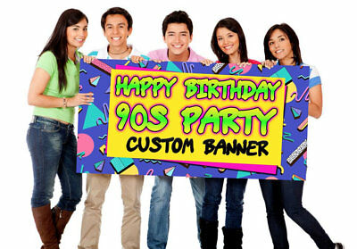 90s Party Banner, 90s Party Birthday Banner, Party Supplies, nineties Party - 90s Birthday