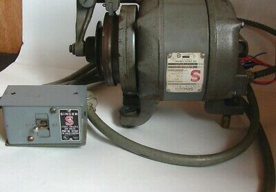 Vtg Singer Industrial 14 Hp Clutch Motor For Sewing Machine Singer Industrial