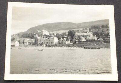 PHOTOGRAPH Fort William 8.5cm x 6cm SCOTLAND 1937 Houses Boats Beach 1426