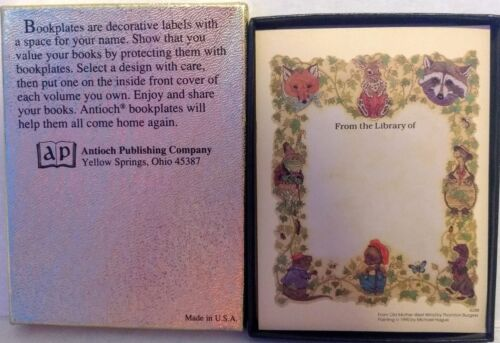 Old Mother West Wind Vtg Bookplate Sticker Thornton Burgess Michael Hague Lot 20