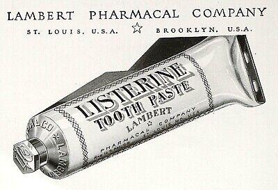 1920 Listerine Tooth Paste Print Ad - Lambert Pharmacal Company - Nov -