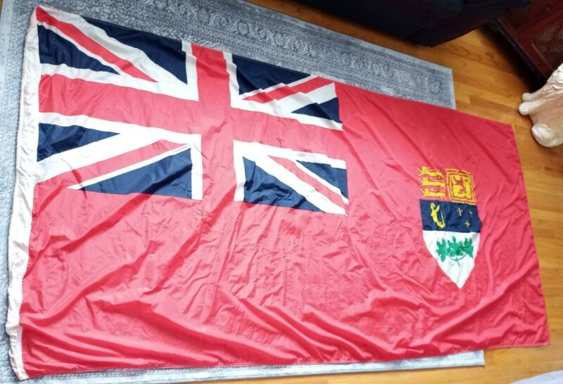 Original Early 1960s Canada Ensign Flag - Large 9 feet Long - Made by SCYCO