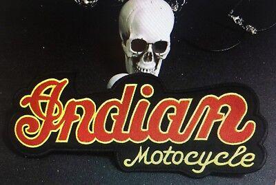 Patch Indian Motorcycles Backpatch XXL 23, 5x10cm Vest Mc Biker Vintage New