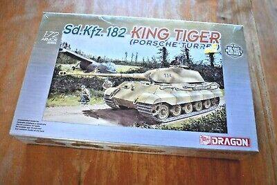 Dragon 7231 Sd.Kfz. 182 King Tiger Tank Factory Sealed Model Kit 1/72