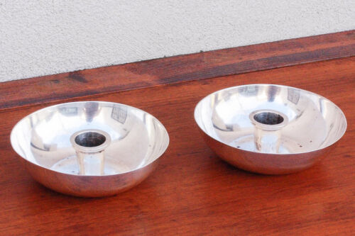 Pair Sterling Silver Candle Holders Alfredo Ortega & Sons Mexico City HEAVY!
