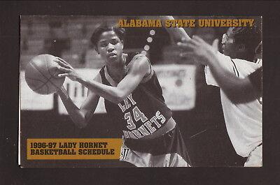 State Hornets Basketball - Alabama State Hornets--1996-97 Basketball Pocket Schedule--Winn-Dixie