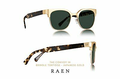 Raen Convoy authentic unisex USA handmade sunglasses UVA/UVB gold + (Tortoise Gold)
