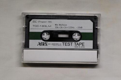 ABEX Test Tape Mix Multiuse TCC-183LM, 10k+3k+1k+125Hz