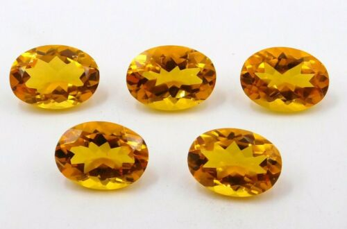 13X18 MM Oval Lab Created Citrine Cut Lot Loose Gemstone For Ring Stone P-380