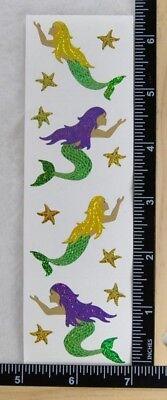 Mrs Grossman SPARKLE MERMAID Stickers GLITTER MERMAIDS WITH STARFISH](Mermaid Stickers)