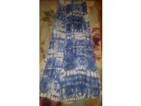 Warehouse ladies long summer side slash skirt size 8