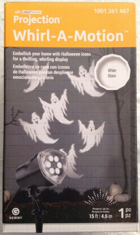 Gemmy - LED LightShow Projection | Whirl-A-Motion | Ghosts | White | 1 Pc