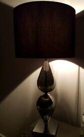 Black side table lamp