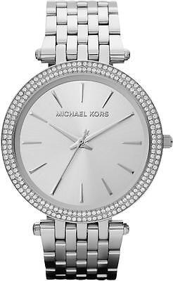 Michael Kors MK3190 Darci Silver Tone Dial Pave Bezel Ladies Wrist Watch