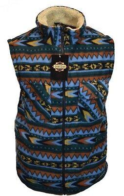 Mens Vest Sherpa Zipper Guide Gear Sleeveless Sweater Sweatshirt  Jacket NWT
