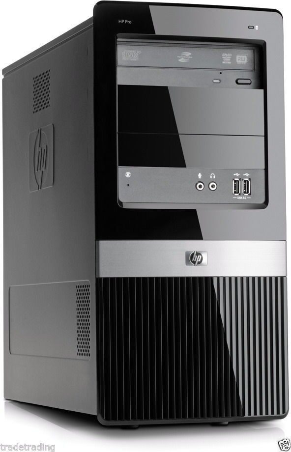 Cheap Fast HP Dual Core 4GB 250GB Desktop PC Mini Tower Win 7 WiFi