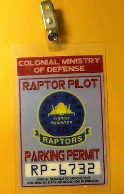 Battlestar Galactica Auto Parking Permit-Raptor Kostüm Requisite Cosplay