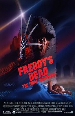 A Nightmare On Elm Street movie poster (c) 11 x 17 inches  Freddy's Dead poster
