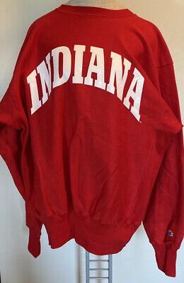 Vtg 80s 90s Men's Champion Indiana University Reverse Weave Sweatshirt XL NWOT