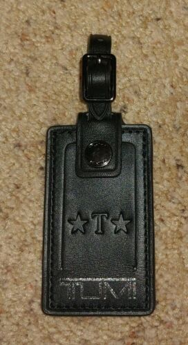 NEW Tumi Harrison BLACK Leather Luggage Purse Handbag Tag Fine Travel Accessory - $15.99