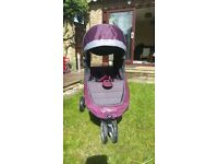 Baby Jogger City Mini Pushchair Purple & Silver/Grey in Excellent condition!