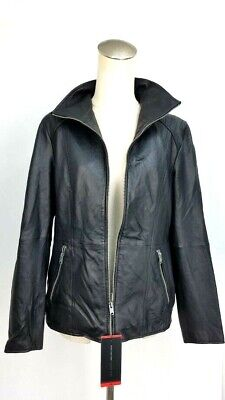 Andrew Marc Black Leather Moto Jacket Buttery Soft Leather Sz M-2XL #1156868 NWT