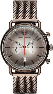 Emporio Armani AR11169 Hombre Marrón Malla Reloj - 2 Año Garantía - Certificado segunda mano  Embacar hacia Argentina