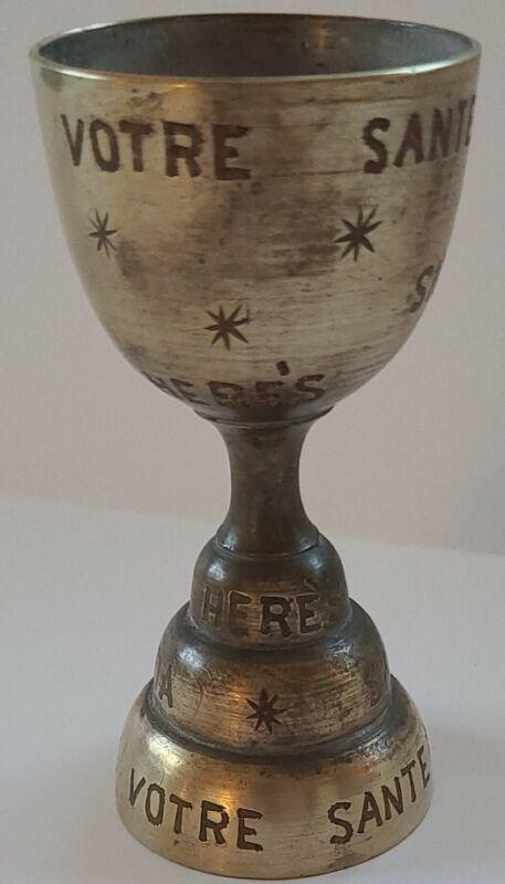 Bells of Sarna India Bell / Egg Cup Brass Vintage - Happy Days, Skoal, Saluda