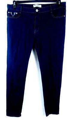 Juju jeans blue plus embellished embroidered metallic spandex denim jeans 19/33 ()