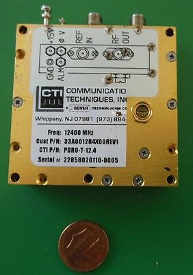 Herley Cti Phase Locked Pdro Precision Oscillator 12400 Mhz 12.4 Ghz Tested