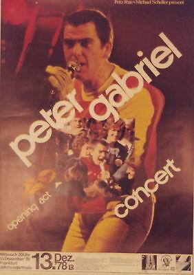 PETER GABRIEL CONCERT TOUR POSTER 1978 GENESIS