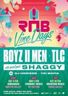 RnB Vine Days : Boyz II Men, TLC, Shaggy *Discounted* Ticket