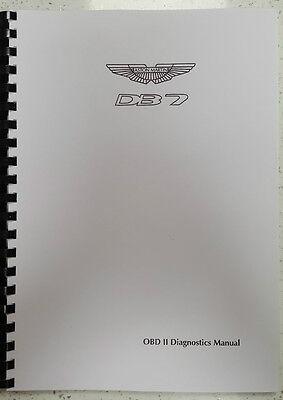 ASTON MARTIN DB7 97 - 99 OBD II DIAGNOSTIC MANUAL PRINTED A4 COMB BOUND