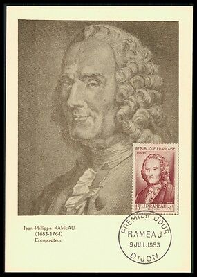 FRANCE MK 1953 RAMEAU KOMPONIST COMPOSER MUSIC CARTE MAXIMUM CARD MC CM ax06