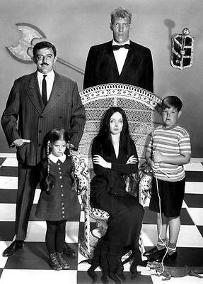 Addams Family Cast Publicity PHOTO 1964 TV Show Creepy Scary Weird Halloween](Family Halloween Shows)