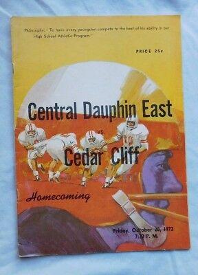 Central Dauphin East Vs Cedar Cliff High School Football Pa Program 10/20/72