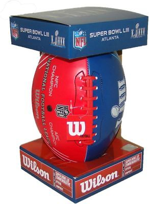 NFL Official Super Bowl 53 LIII Commemorative Red White & Blue Dueling Football - Official Nfl Super Bowl Football